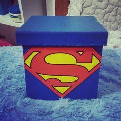Caixa decorativa super man diy geek