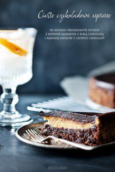 Decadent espresso chocolate cake
