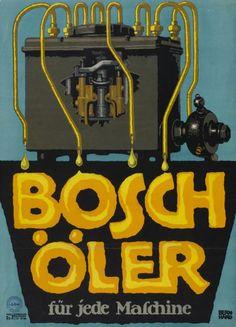 Lucian Bernhard, advertising poster for Bosch machine oil