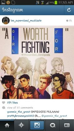 Leo Calypso, Frank Hazel, Jason Piper, and Percy Annabeth