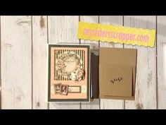 TUTORIAL - Graphic 45 Portrait of a Lady Mini Album Page Tutorial – My Sisters Scrapper