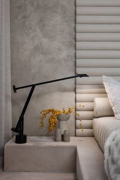 Alex P White pairs soft tones and raw textures in model New York apartment - Dr Wong - Emporium of Tings. Modern Bedroom, Bedroom Decor, Bedroom Furniture, Furniture Sets, Suites, Luxurious Bedrooms, Bed Design, Cheap Home Decor, Interior Design Living Room