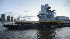 Glasgow December 10, 2015 - The Queen Elizabeth Class aircraft carrier program achieved a major milestone today as the final section began its delivery voyage from Glasgow to Rosyth, ten weeks ahead of schedule. HMS Queen Elizabeth and HMS Prince of Wales will be the Royal Navy's largest and most advanced ever warships and were constructed in blocks in different shipyards throughout the UK. Final section being delivered, known as the Aft Island, weighs 750 tonnes and will control aircraft…