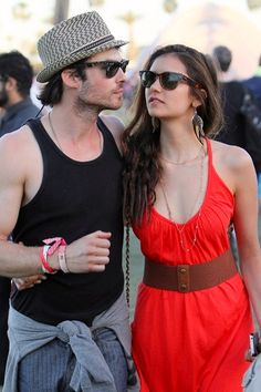 Ian Somerhadler and Nina Dobrev