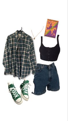 Indie Outfits, Teen Fashion Outfits, Retro Outfits, Grunge Outfits, Vintage Outfits, Girl Outfits, Flannel Outfits, Swaggy Outfits, Cute Casual Outfits
