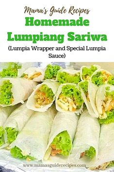 Homemade Lumpiang Sariwa, Lumpia Wrapper and Special Lumpia Sauce Vegetable Lumpia, Filipino Vegetable Recipes, Filipino Recipes, Asian Recipes, Filipino Food, Filipino Dishes, Filipino Noodles, Filipino Appetizers, Asian Foods