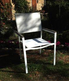 sedia da esterno modello LOTO  alluminio verniciato a polvere  seduta in textilene