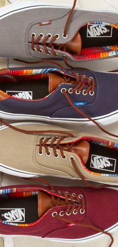 Vans Era // Canvas and Leather // Serape
