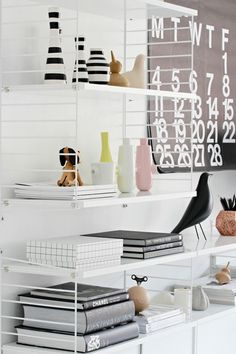home office styling #decor #white