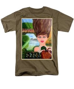 Purchase an adult t-shirt featuring the image of The Girl With A Wooden Hair by Jocelyn Apple.  Available in sizes S - 4XL.  Each t-shirt is printed on-demand, ships within 1 - 2 business days, and comes with a 30-day money-back guarantee.