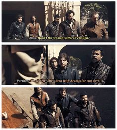 The Musketeers - 1x06 - The Exiles, Oh Porthos, the burn!...