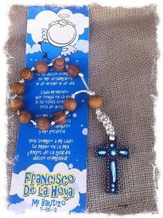 Baptism Communion Confirmation wood decenario rosary party