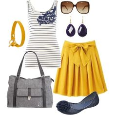 blue & yellow, created by htotheb on Polyvore