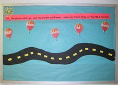 oh the places you will go bulletin board - tracking bulletin board
