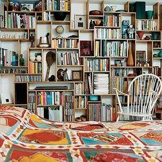Bohemian Twilight: {boho} books in a boho home
