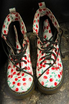 Cherry Doc Martens......our gal 'Ditsy' Rose is definitely having a pair of these!!