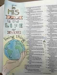 Ϯ ❤ Ϯ                                                             Spiritual Thought                                                   ♥Bible art journaling