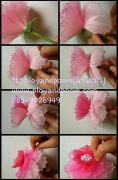 วิธีทำดอกพีโอนี( Peony flower) by ployandpoom