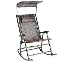 bliss hammocks deluxe foldable rocking chair with sun shade bliss hammocks deluxe xl gravity free recliner with canopy  u0026 tray      rh   pinterest