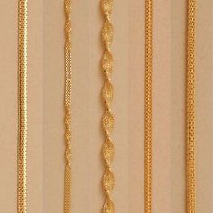 Pure Solid Yellow Gold Chain Necklace Made in Italy Yellow Gold Dubai Chain Gold Chain Design, Gold Ring Designs, Gold Bangles Design, Gold Earrings Designs, Gold Jewellery Design, Dubai Gold Jewelry, India Jewelry, Bridal Jewellery, Diana