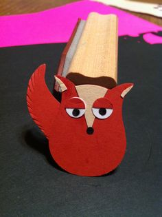 Check out what my awesome Auntie Sue made --- Sassy Little Fox made with SU Owl Punch Stampin' Up!