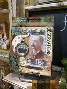 Annette's Creative Journey: CHA Recap 2 - All Things Tim Holtz Heritage Scrapbooking, Mixed Media Scrapbooking, Altered Canvas, Altered Books, Mixed Media Canvas, Mixed Media Collage, Distressed Painting, Assemblage Art, Teepees