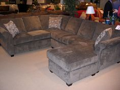 Stanton Showroom - A fabulous sectional. It's hard to see in the photo, but this piece has a very nice textured upholstery.