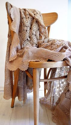 Vintage crocheted blanket Flower por lacasadecoto en Etsy