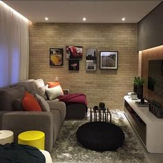 60 Brilliant Images of Small Living Room Design Ideas Interior Design Living Room, Living Room Designs, Home Living Room, Living Room Decor, Sala Grande, Decoration Inspiration, Small Apartments, Sweet Home, House Design