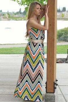 Southwest Lime Dream Dress Maxi