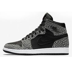 Nike Jordan 1 Retro High Un-Supreme Mens 839115-013 Black Cement Shoes Size 9.5
