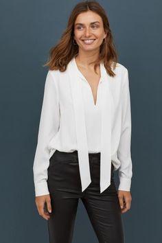 b40f5f21 69 Best tie neck blouse images | Blouses, Feminine fashion, Ladies ...