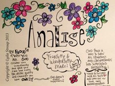 Prayer Doodle for Analise