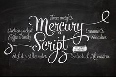 Mercury Script by Emil Bertell - Desktop Font, WebFont and Mobile Font available at YouWorkForThem.