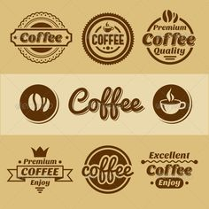 Coffee Labels and Badges. #jpg #image #roast #set • Available here → https://graphicriver.net/item/coffee-labels-and-badges-/5602893?ref=pxcr
