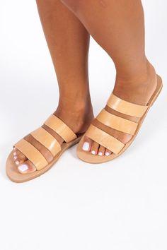 Greek Leather Sandals Women Sandals Griechische Sandalen | Etsy Gladiator Sandals Outfit, Boho Sandals, Slide Sandals, Leather Sandals, Summer Slippers, Beautiful Sandals, Ancient Greek Sandals, Natural Leather, Etsy