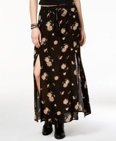 American Rag Printed Double-Slit Maxi Skirt, Only at Macy's | macys.com