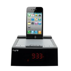 Nyne iPhone/iPod Alarm Clock Speaker Dock, Features 30-Pin Apple-Certified Docking Mechanism and 3.5mm Stereo Aux-In with Dual Alarms and Sn...