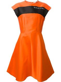 Carven Logo 'mikado' Flared Dress - Elite - Farfetch.com