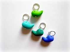 Whale stitch markers set of 4 snagfree by AbsoKnittingLutely, £8.00