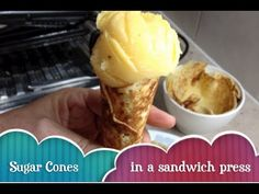 America's Test Kitchen DIY Ice Cream Sugar Cones - YouTube