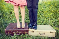 vintage suitcases idea