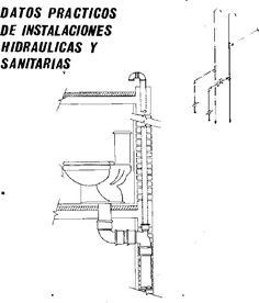 Detalle conexi n de inodoro con flux metro dwg dibujo for Inodoro dwg