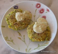 Zucchini-rice patties are chewy, dense, and just a little bit crisp with a fresh lemony flavor. https://www.theveggietable.com/blog/vegetarian-recipes/appetizers-side-dishes/zucchini-rice-patties/