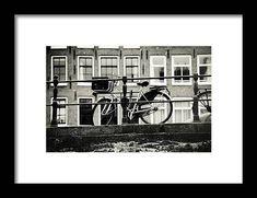 Art Prints For Home, Home Art, Fine Art Prints, Framed Prints, Amsterdam Bike, Amsterdam Holland, Fine Art Photography, Travel Photography, Bike Frame