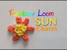 EASY Rainbow Loom Sun Charm