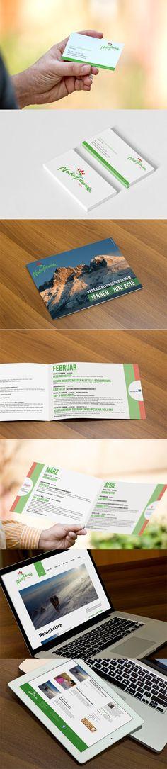 Visitenkarte, Folderdesign sowie Website für die Naturfreunde Telfs www.naturfreunde-telfs.at