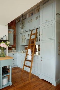 Located inside a Victorian watermill built in 1862 this English kitchen is chock-full of charm! When the homeowners wanted to renovate their incredible property they turned to Churchwood Design t - July 28 2019 at Farmhouse Style Kitchen, Modern Farmhouse Kitchens, Home Decor Kitchen, Interior Design Kitchen, Kitchen Ideas, Kitchen Designs, Log Home Kitchens, Kitchen Art, Country Farmhouse