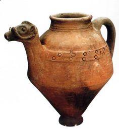 Hittite, bull-headed pitcher, Kültepe-Kaniş, 1800-1730 BC
