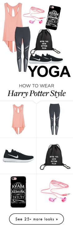 """Untitled #6"" by jellybanana on Polyvore featuring Alo, Charlotte Russe, Samsung and NIKE"